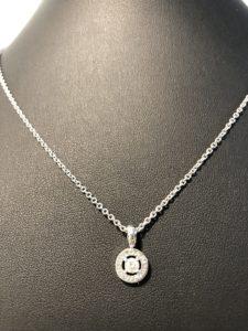 ブルガリ BVLGARI ブルガリブルガリ 1PD ペンダントネックレス WG ダイヤモンド 【中古】【送料無料】メーカにて磨き済み