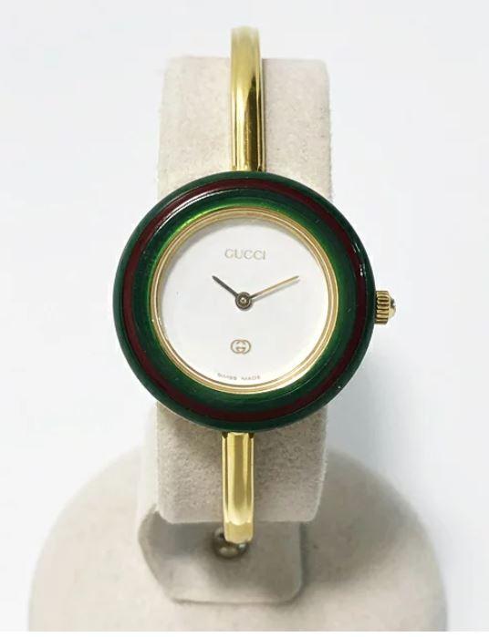 グッチ GUCCI ベゼルウォッチ レディース腕時計 ゴールドメッキ 【中古】かんてい局亀有店